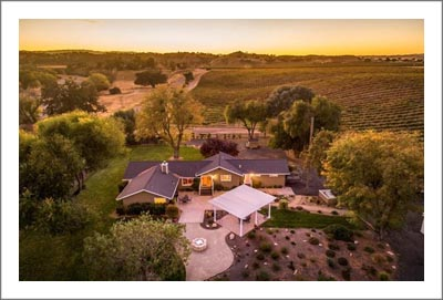 Paso Robles AVA Vineyard For Sale w/ Two Homes -  Cabernet & Syrah Vineyard - San Miguel Real Estate