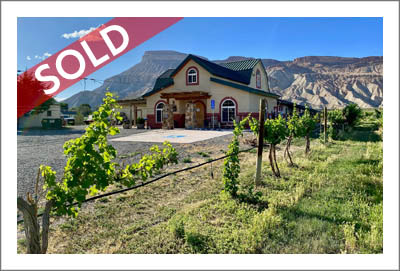 Colorado Winery For Sale - PALISADE COLORADO WINERY FOR SALE WITH VINEYARD, TASTING ROOM, FARMHOUSE — GARFIELD ESTATES