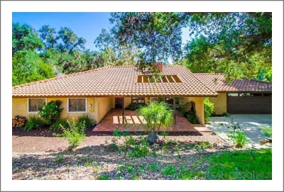 San Diego County Wine Country Home For Sale - Vineyard & Olive Grove Potential - Fallbrook, California