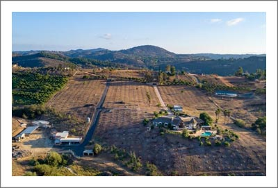 San Diego County Ranch For Sale - Vineyard Potential - Previously Avocado Orchard - Large Home w/ Guest House