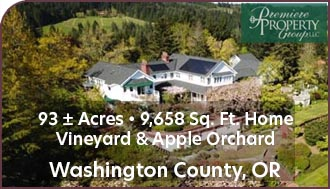 Oregon Luxury Home For Sale w/ Vineyard and Apple Orchard - Oregon Wine Country Land