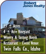 Idaho Winery, Vineyard, Restaurant and Event Venue For Sale - Idaho Wine Country Real Estate