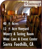 Northern California Winery, Vineyard, Wine Caves and Event Center For Sale - Sierra Foothills AVA Wine Country Real Estate