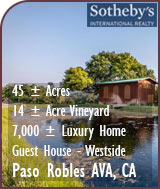 Westside Paso Robles AVA Large Estate Home and Vineyard For Sale