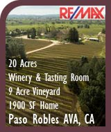 Paso Robles AVA Winery, Vineyard, Tasting Room and Home For Sale - Wine Country Real Estate