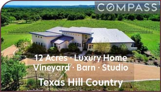 Texas Hill Country Vineyard For Sale w/ Luxury Home, Barn, and Studio Apartment