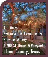 Texas Vineyard and Luxury Home For Sale - Winery Potential