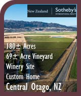 New Zealand Vineyard For Sale - Winery Site & Custom Home - Central Otago, NZ