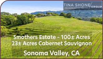 Sonoma County Vineyard For Sale - Sonoma Valley Vineyard For Sale - Wine Country Home