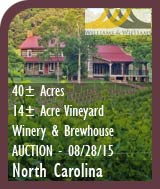 North Carolina Winery Auction - Winery, Vineyard, Brewhouse For Sale - Wine Country Business