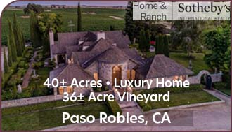 Paso Robles Vineyard For Sale w/ Luxury Home