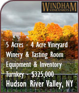 Winery For Sale - Hudson Valley Boutique Winery and Vineyard For Sale - New York Wine Country Real Estate - New York