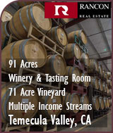 Temecula Valley Winery &  Large Vineyard For Sale - Multiple Income Sreams - Commercial Winery For Sale