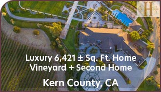 Kern County Luxury Home For Sale - Vineyard, Guest House, Pool, Event Center - Bakersfield Real Estate