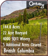 British Columbia Winery & Vineyard For Sale - Canada Wine Country Real Estate