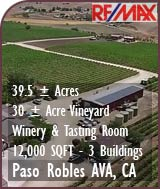 Paso Robles Winery For Sale - Winery, Vineyard, Tasting Room - Wine Country Real Estate