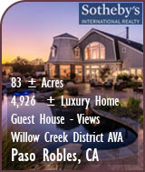 Paso Robles Luxury Home For Sale - Willow Creek AVA - Guest House, Pool, Views - Vineyard Potential