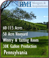 Pennsylvania Winery and Vineyard For Sale - Wine Business For Sale
