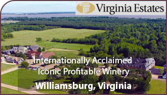 Virginia Winery For Sale - Virginia Vineyard For Sale  w/ Wine Tasting Room and Inn